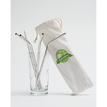 Foldable stainless steel straws