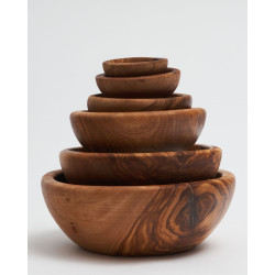Wooden bowl olive tree multi size natural
