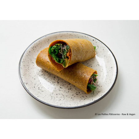 Recipe raw carrot curry wrap